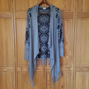 Altar'd State Long Hooded Cardigan